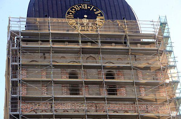 """Rīgas Doma baznīcas restaurācija, kuru veic būvniecības uzņēmums """"RE&RE""""."""