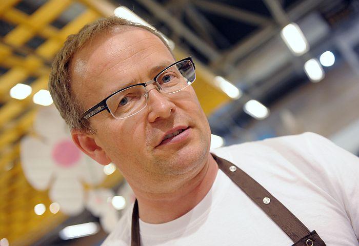 """SIA """"Latvijas Piens"""" pārstāvis un piena kooperatīva """"Trikāta KS"""" valdes priekšsēdētājs Uldis Krievārs."""