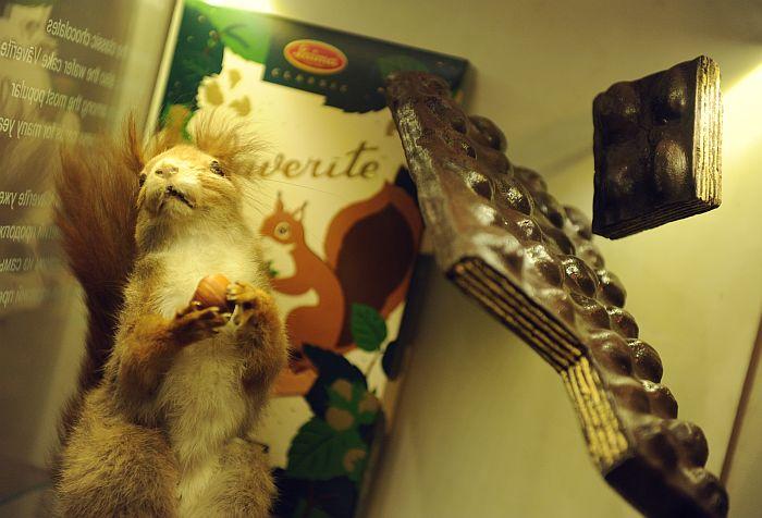 """""""Laima"""" šokolādes muzejā."""