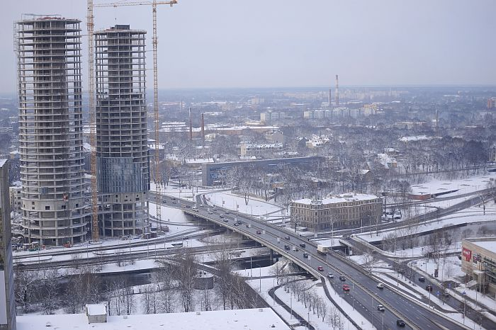 """Augstceltņu kompleksa """"Z-Towers"""" celtniecība."""
