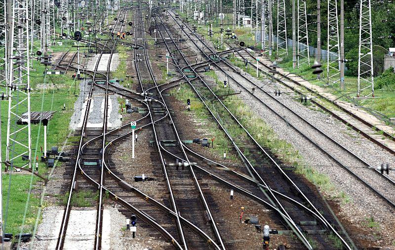 Dzelzceļa sliedes.