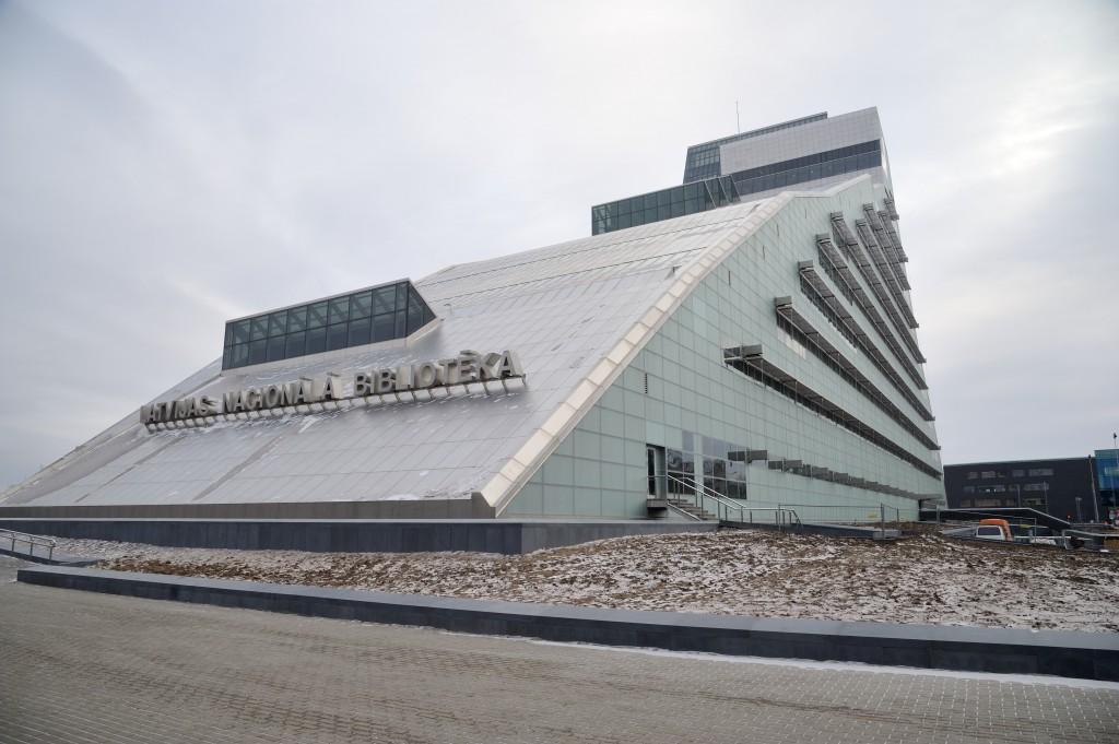 Gaismas pils. Latvijas Nacionâlâs bibliotçkas çka. Mûkusalas iela 3.  31/01/2014 foto: Timurs Subhankulovs/Latvijas Avîze