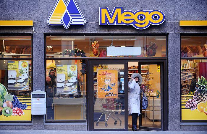 """Mazumtirdzniecības uzņēmuma SIA """"Mego"""" veikals Marijas ielā."""