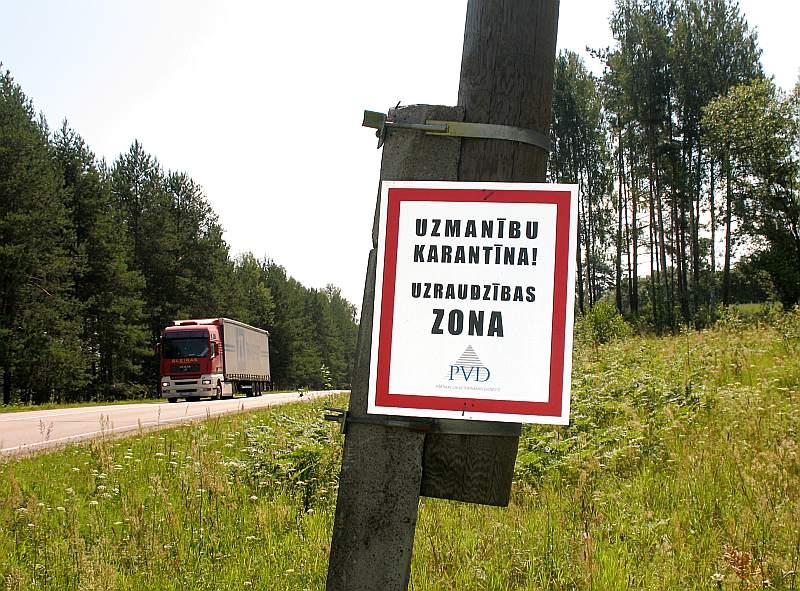 PVD patlaban atceļ karantīnas ierobežojumus, ko noteica 10 kilometrus apkārt slimības skartajām fermām.