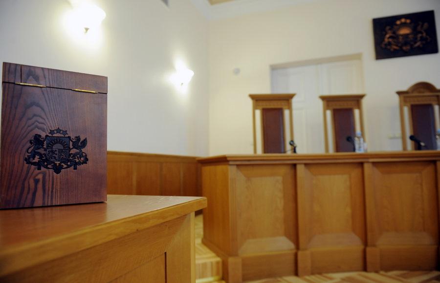 Satversmes tiesas sēžu zāle.