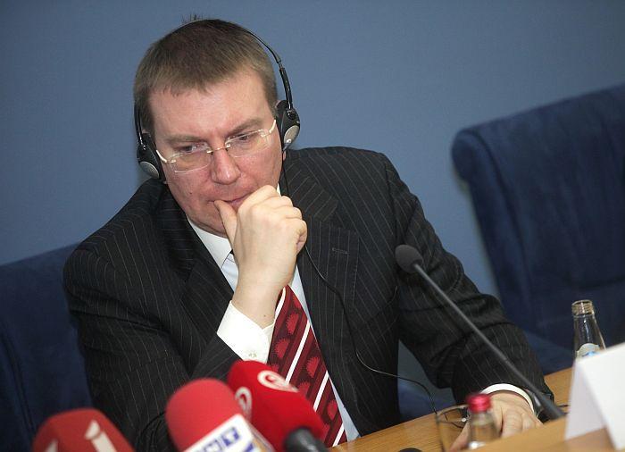 Latvijas ārlietu ministrs Edgars Rinkēvičs.