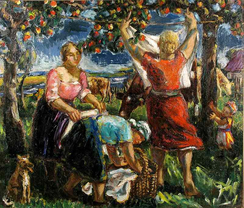 """Ģederts Eliass. """"Veļas diena Zīlēnos"""". 20. gs. 30. gadi."""