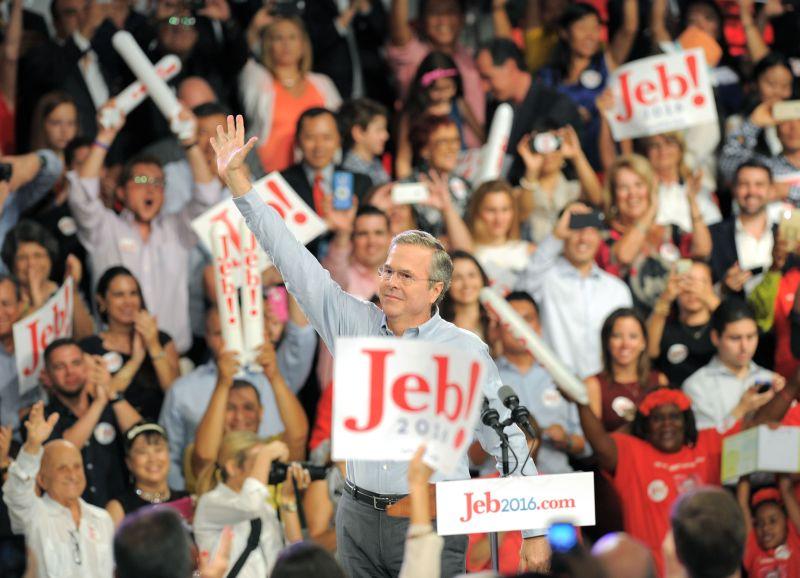 Paziņojot par savas kandidatūras pieteikšanu cīņā par ASV prezidenta amatu, Republikāņu partijas pārstāvis Džebs Bušs par savām prioritātēm valsts vadītāja amatā nosauca ekonomikas atveseļošanu, nodokļu nastas samazināšanu, enerģētikas politiku un militāro spēju atjaunošanu.