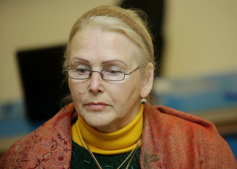 Latvijas Pensionāru federācijas pārstāve Dzintra Žilde