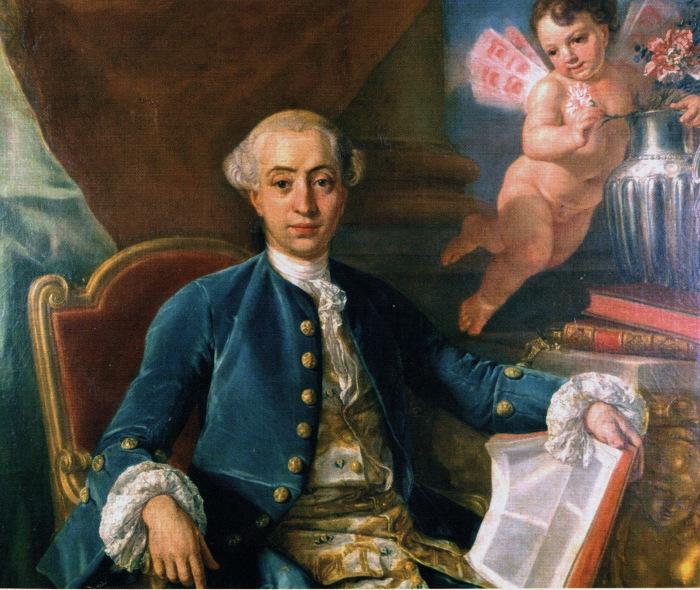 Džakomo Kazanova Antona Rafaela Mengsa gleznā.