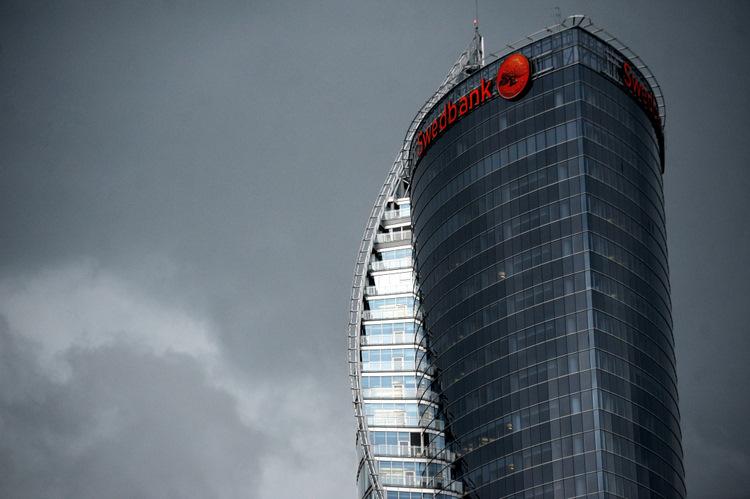 """""""Swedbank"""" administratīvā ēka """"Saules akmens""""."""