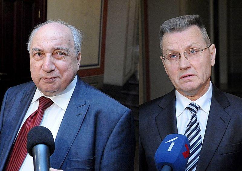Aleksandrs Čubarjans (no kreisās) un Antonijs Zunda