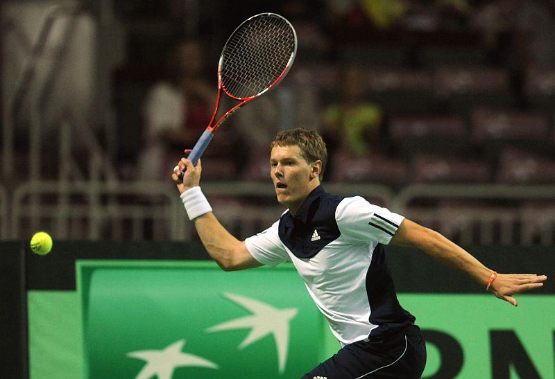 Latvijas izlases tenisists Miķelis Lībietis (arhīva foto)