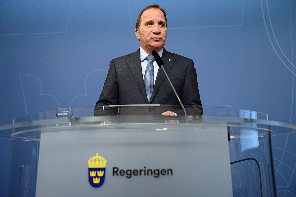 Zviedrijas premjerministrs Stefans Levēns