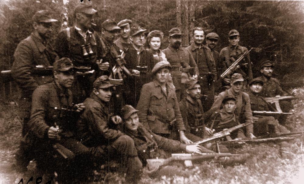 Ilustrativs attēls. Kurzemes nacionālo partizānu Kabiles grupa 1946. gada septembra sākumā.