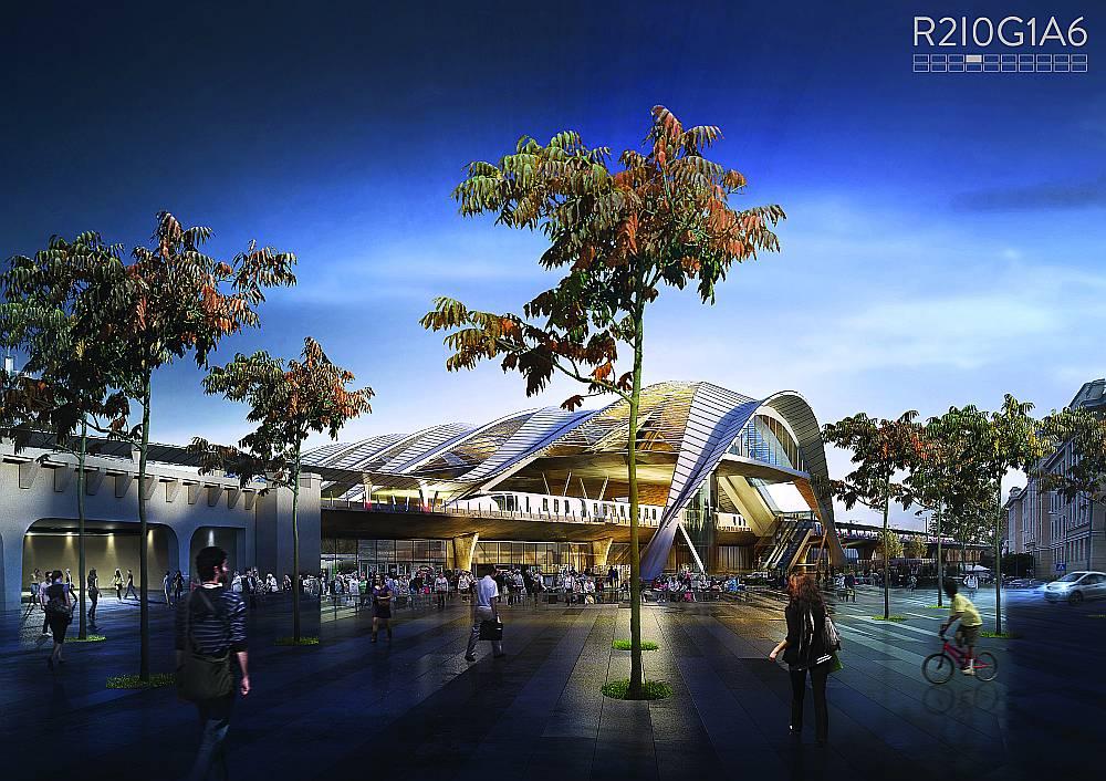 """Dānijas """"PLH Arkitekter A/S"""" arhitekti konkursu uzvarēja ar Centrālās stacijas risinājumu. Šis variants visvairāk patika arī """"LA"""" aptaujātajiem arhitektiem un rīdziniekiem."""