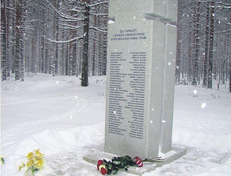 Novembrī atklātā piemiņas zīme Krievijā, Sjasstrojas karagūstekņu nometnē, bojāgājušajiem latviešiem.