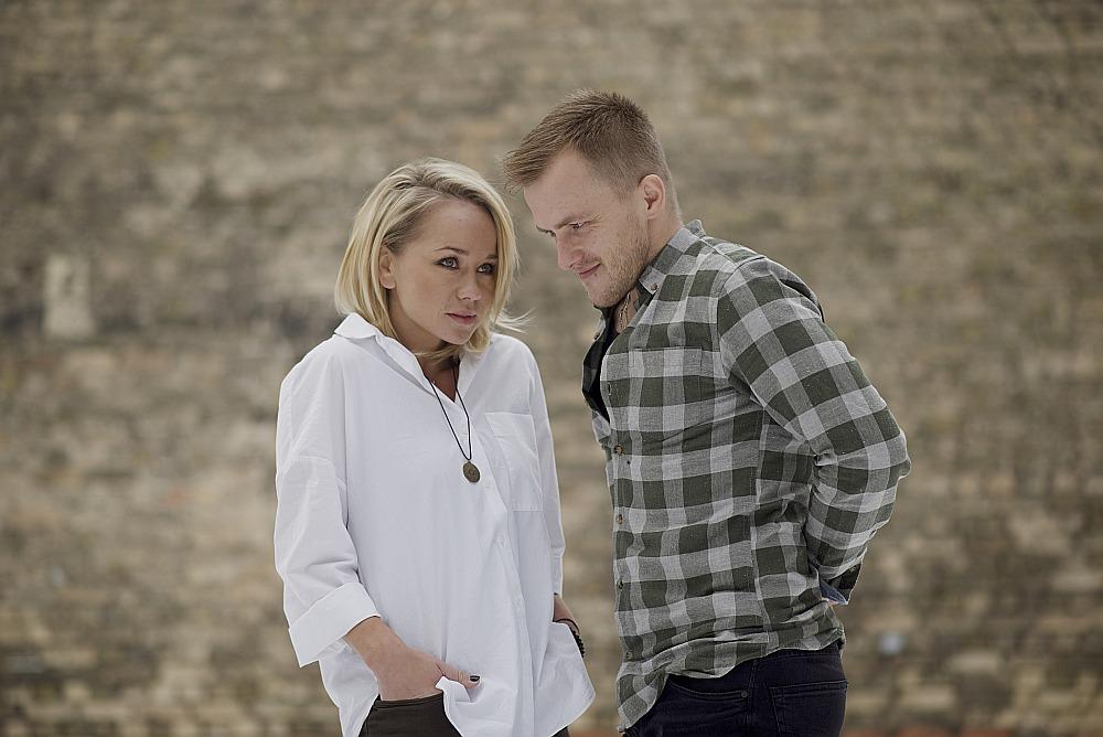 Aija Andrejeva un Kārlis Būmeisters.