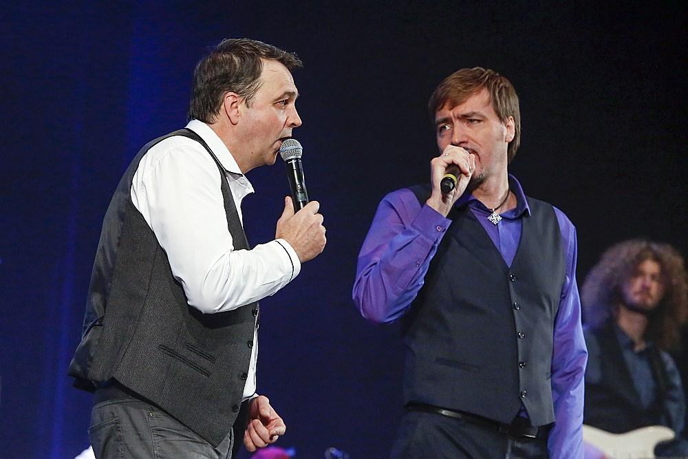 Andris Baltacis (mo kreisās) un Atis Auzāns.
