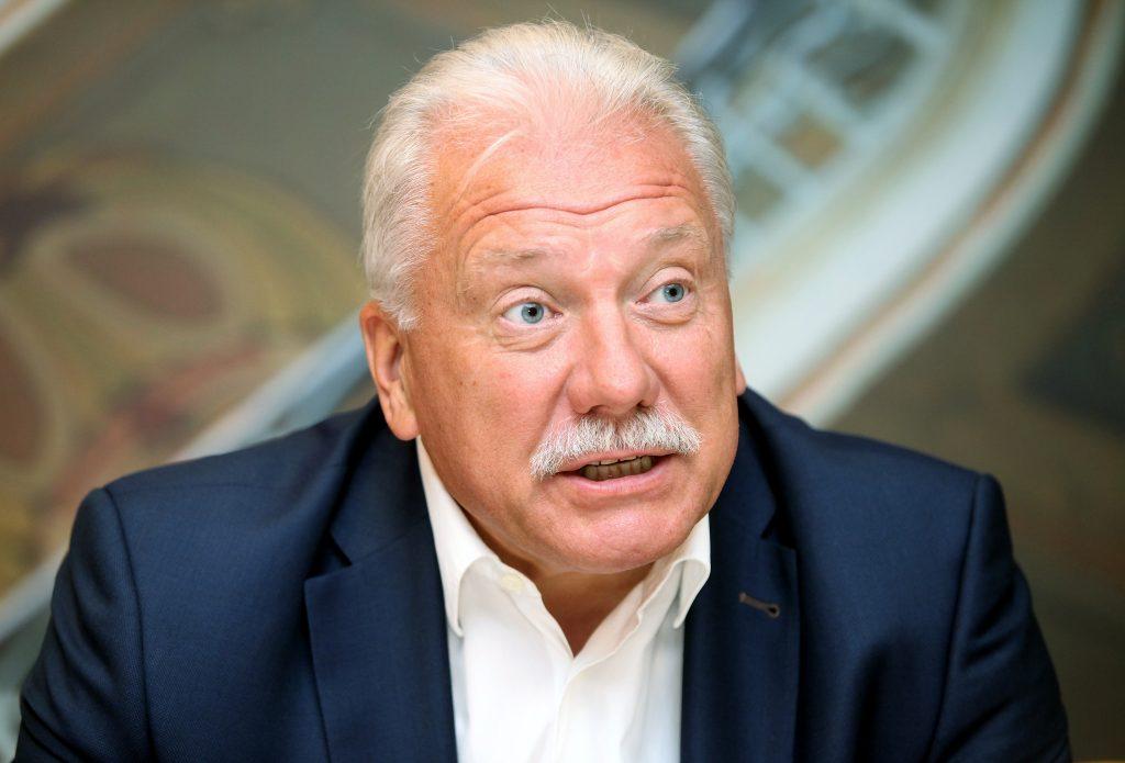 Latvijas Volejbola federācijas prezidents Atis Sausnītis.