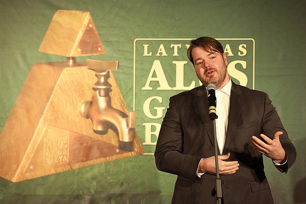 Visvairāk balvu, arī par gada izaugsmi, saņēma Valmiermuižas alus darītavas saimnieks Aigars Ruņģis.