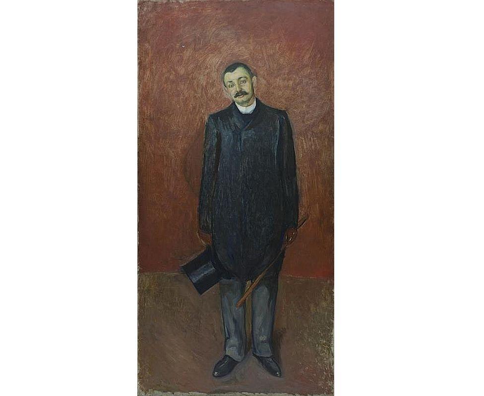 """Edvards Munks """"Advokāta Ludviga Meijera portrets"""" (Tronheimas Mākslas muzeja kolekcija)."""
