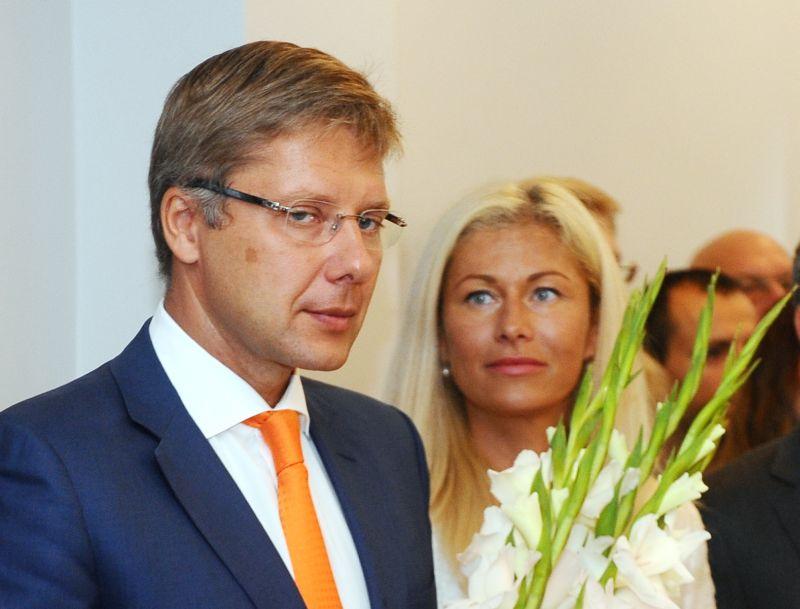 Rīgas mērs Nils Ušakovs ar sievu Ivetu.