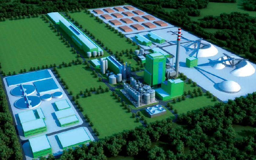 Modernā celulozes rūpnīca gadā plāno pārstrādāt līdz 3,3 milj. m3 koksnes.