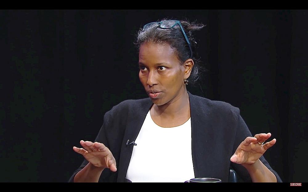 Hirsi Ali piedalās diskusijā ASV televīzijā par islāmu un cilvēktiesībām 2017. gada maijā.