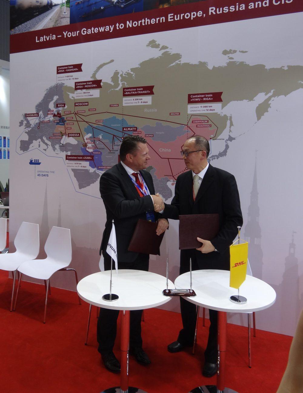 Šā gada jūlijā tika parakstīts sadarbības memorands starp LDz un DHL