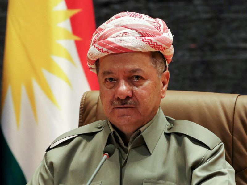 Irākas Kurdu autonomā apgabala prezidents Masuds Barzani