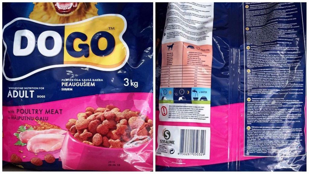 """""""Dogo"""" zīmola barības partija, kurā PVD atklāja neatļauto vielu karbamīdu"""