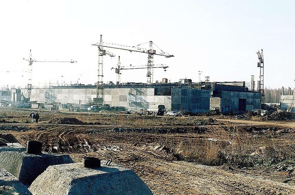 """Kodolatkritumu glabātavas būve """"Majak""""."""