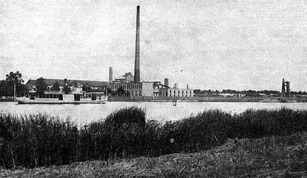 Slokas celulozes fabrika 20. – 30. gados.