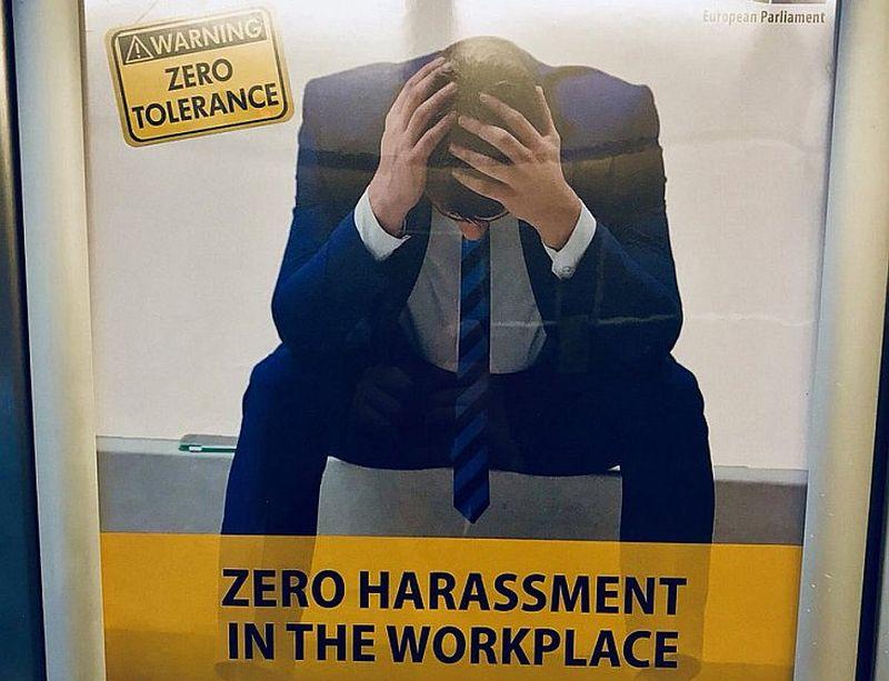 Eiroparlamentāriešu izglītošanai izdota brošūra ar ieteikumiem seksuālās uzmācības nepieļaušanā darba vietā un līdzīgi plakāti izvietoti visās EP telpās.