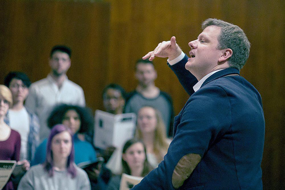 Ēriks Ešenvalds vada arī meistarklases koriem daudzās universitātēs pasaulē. Nupat viņš atgriezies no Amerikas.