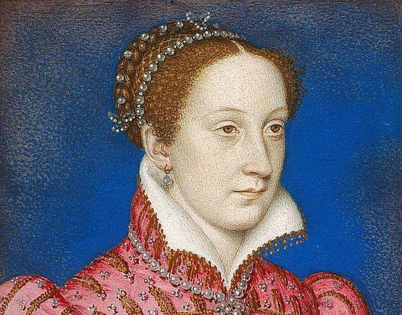 Viens no Skotijas karalienes Mērijas Stjuartes atveidojumiem – Fransuā Kluē izpildījumā, tapis 1558. – 1560. gadā.