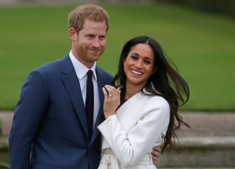 Princis Harijs un viņa līgava Megana.