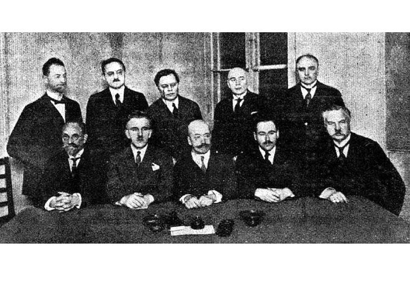 LPNP prezidijs Valkā 1917. gadā.