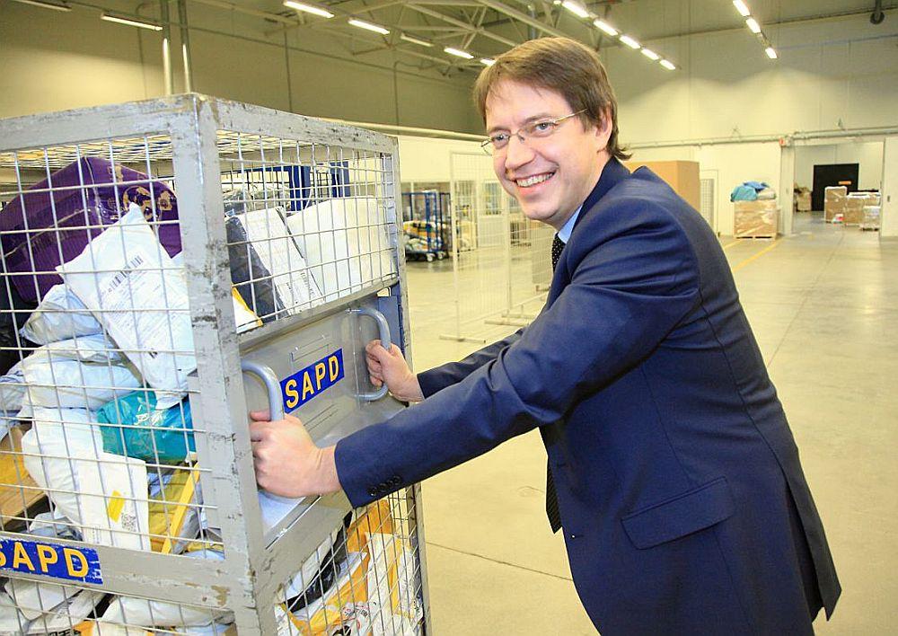Latvijas Pasta valdes priekšsēdētājs Mārcis Vilcāns