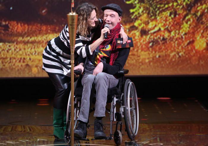 Mūziķis Rolands Ūdris-Balodis kopā ar sievu Ilonu Balodi.