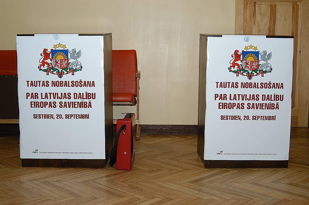 Par Latvijas dalību Eiropas Savienībā referendumā balsoja 676 700 Latvijas iedzīvotāju jeb 66,97 %.