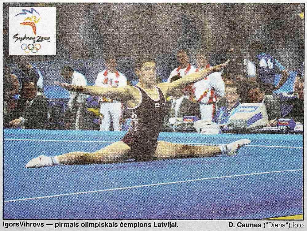 """Pēc gūtās uzvaras vingrotājs Igors Vihrovs samulsis teica: """"Es joprojām nesaprotu, kas noticis, es neticu, ka esmu olimpiskais čempions."""""""