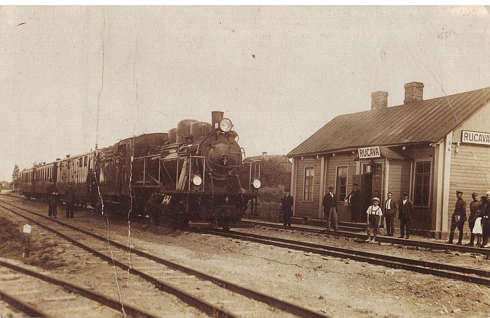 Rucavniekiem vilciens kādreiz bija iecienīts satiksmes līdzeklis.