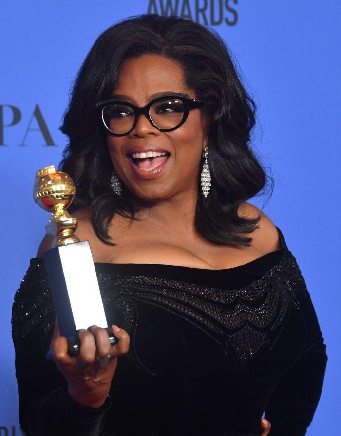 Actress and TV talk show host Oprah Winfrey.