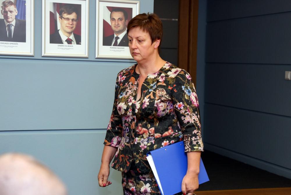Valsts Vides dienesta vadītāja Inga Koļegova.