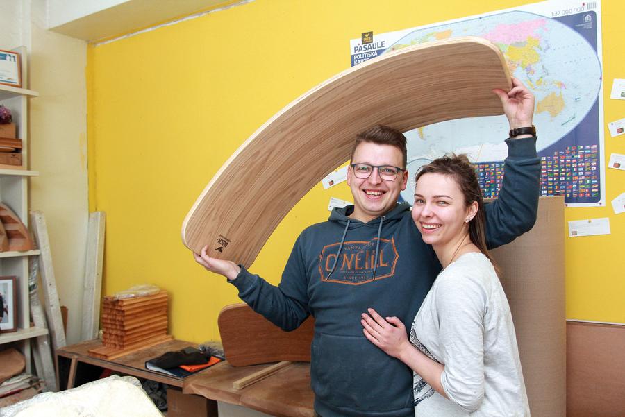 Jānis Pilābers un Sandra Partasova