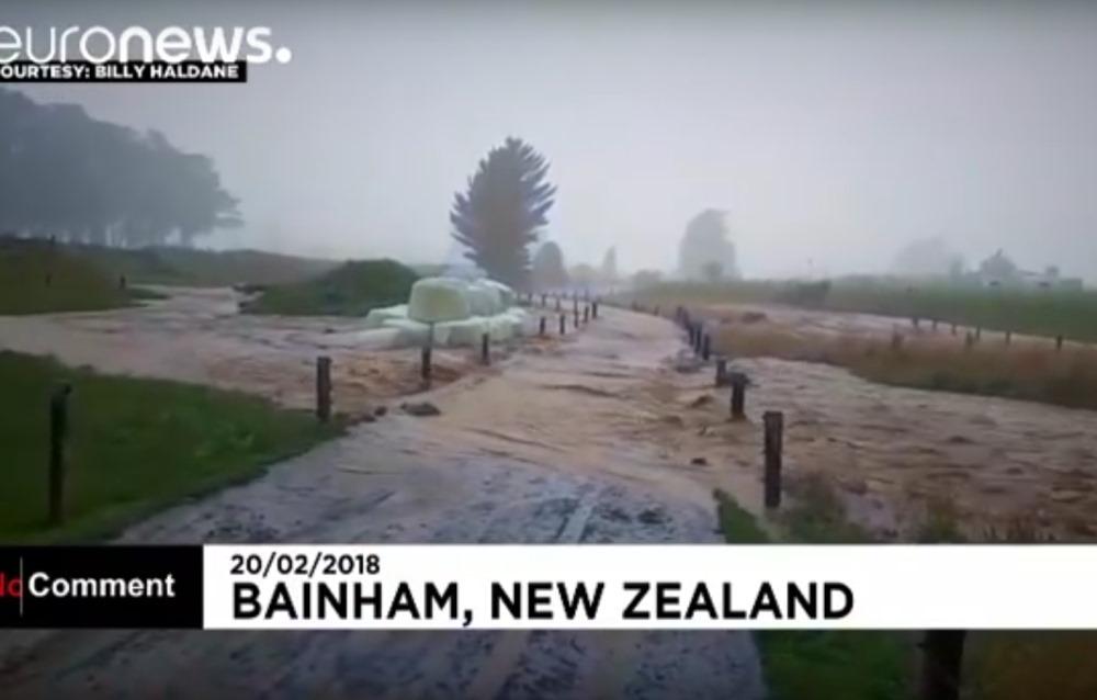 """Jaunzēlandē plosās ciklons """"Gita""""."""