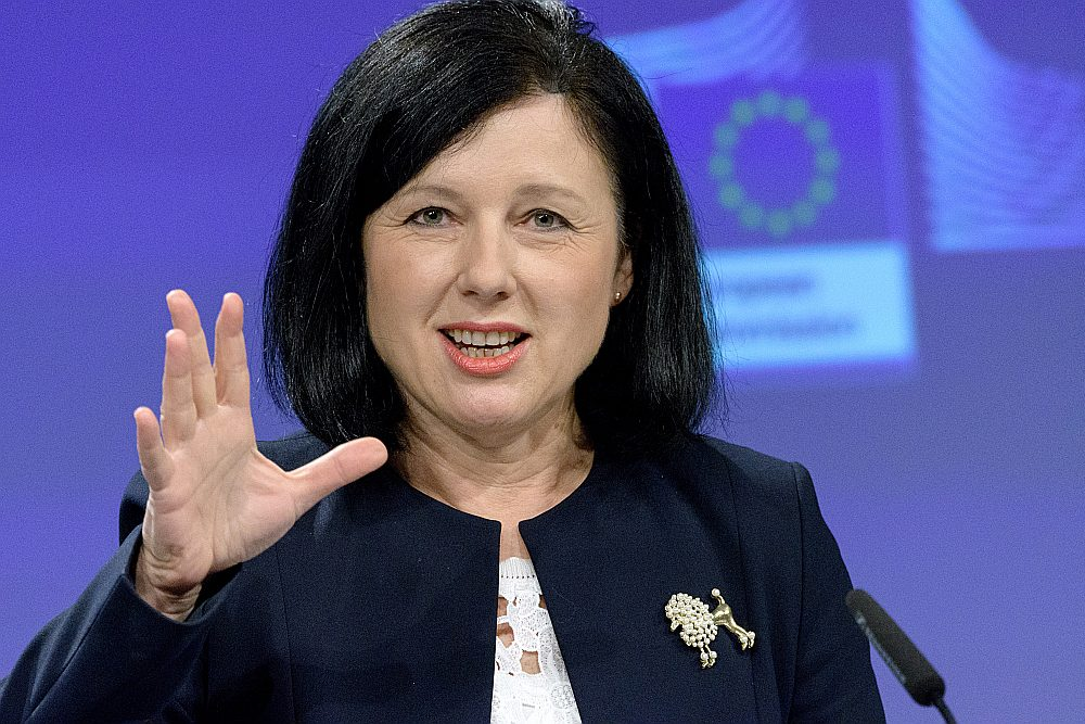 Vera Jourova, ES komisāre tieslietu, patērētāju un dzimumu līdztiesības jautājumos