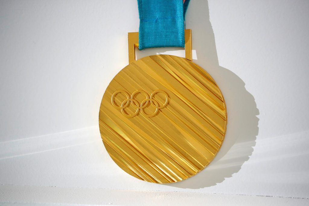 Pjončhanas olimpisko spēļu zelta medaļa